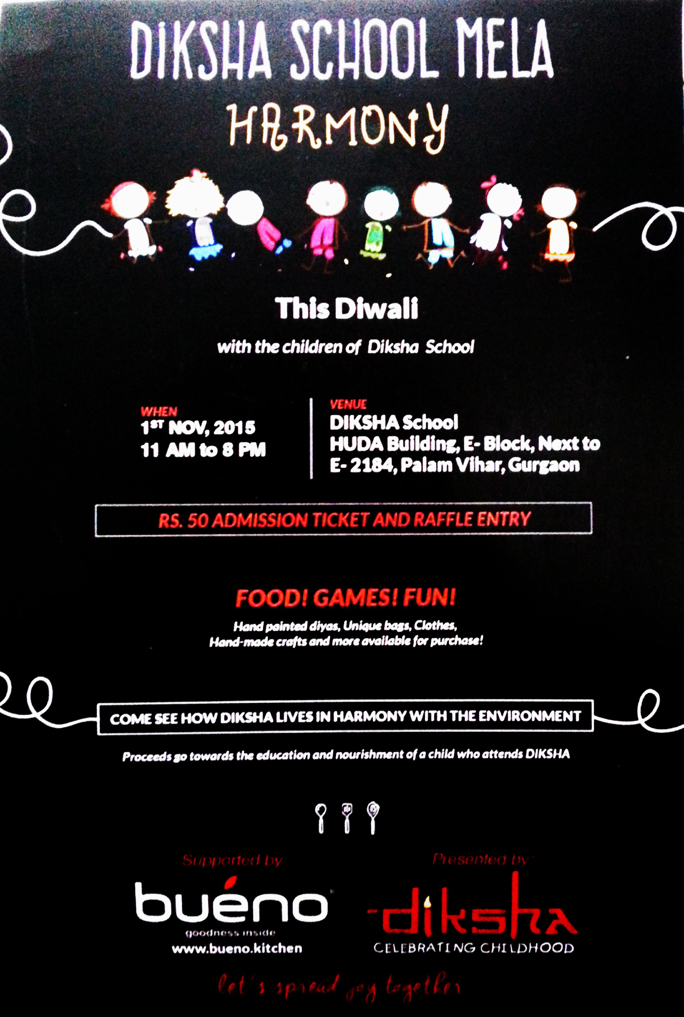 5085 Delhi Ave Delhi: Helping To Spread The Love- DIKSHA SCHOOL DIWALI MELA